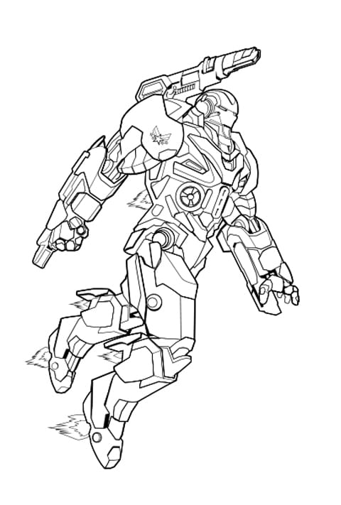 Marvel - War Machine Colouring Sheet
