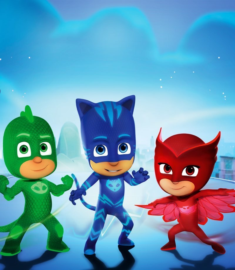 Three characters from PJ Masks