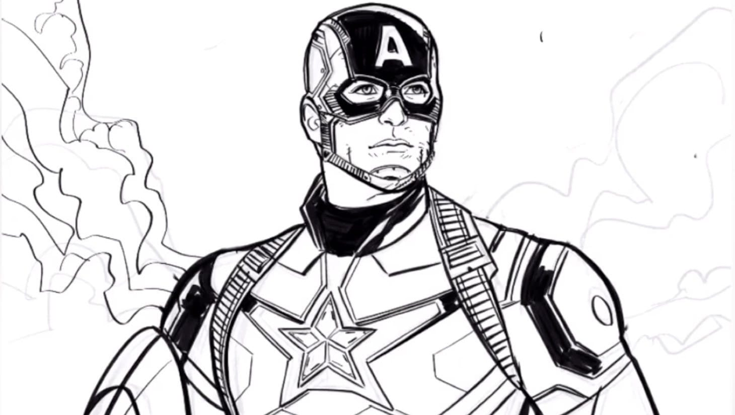 A sketch of Captain America