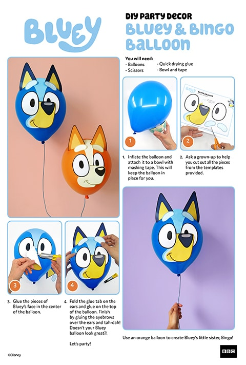 Bluey - Party - Balloons