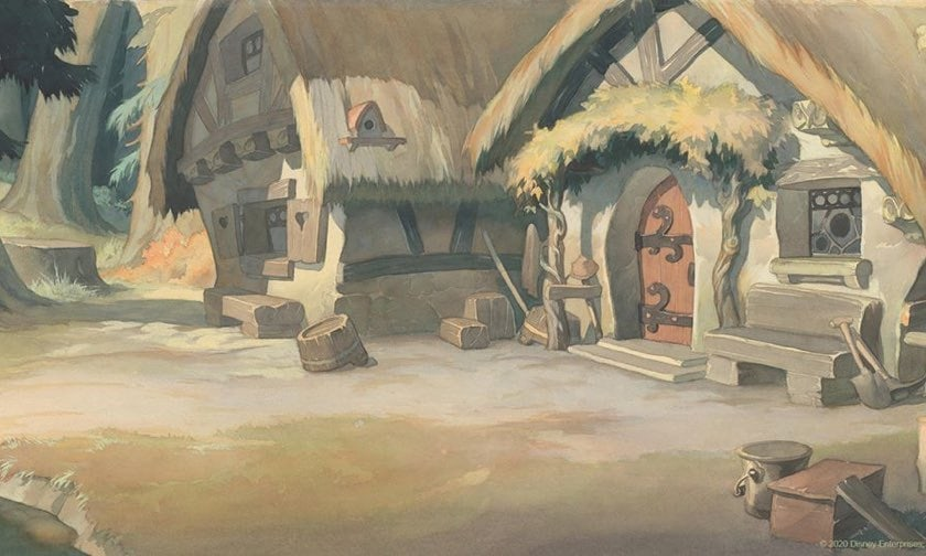 Snow White's hut zoom background