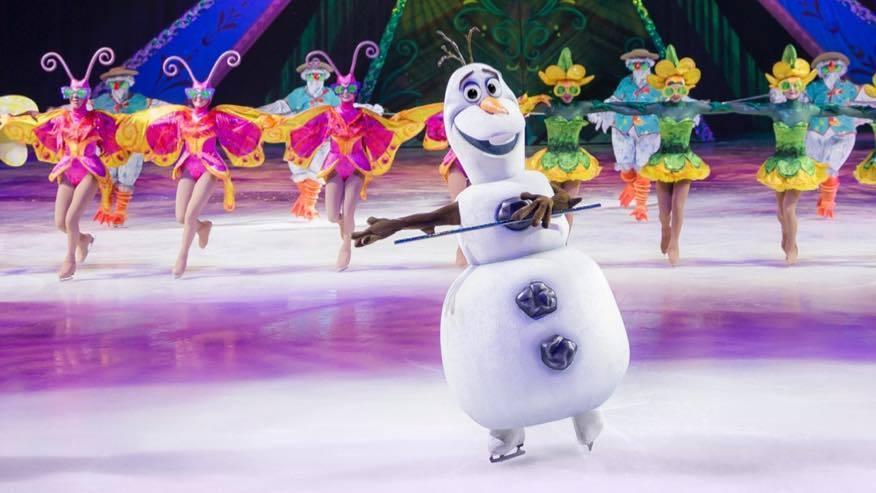 Olaf dancing on ice