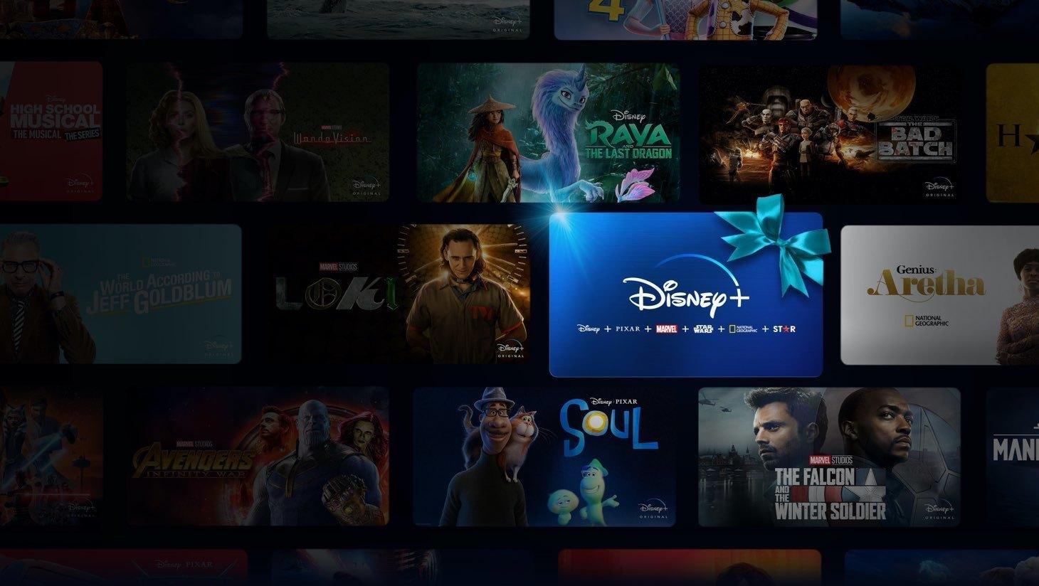 Disney+ subscription card