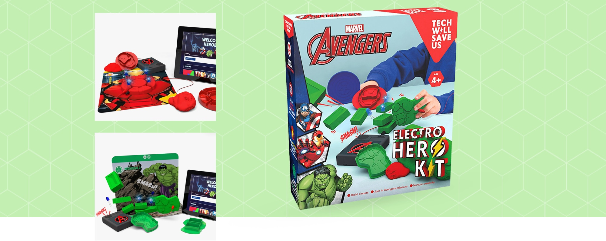 Technology Will Save Us Tech Will Save Us Avengers Electro Hero Kit. Educational Dough Stem Toy
