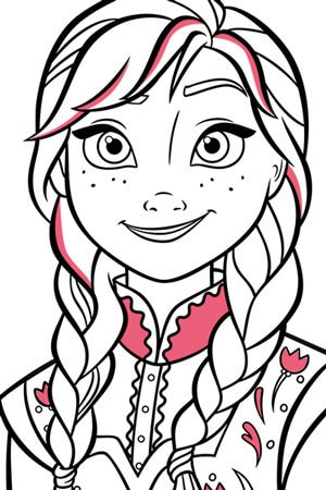 Anna Colouring Page