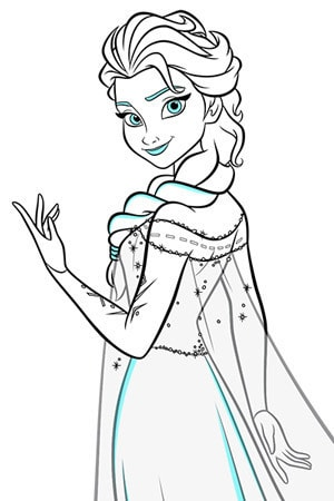 Elsa Colouring Page