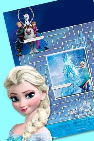 Labyrinthe de Glace vers le château d'Elsa