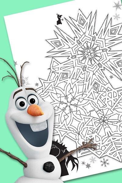 Le labyrinthe d'Olaf et Guimauve