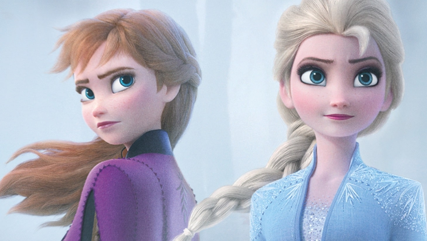 Still image of Anna and Elsa from Frozen 2