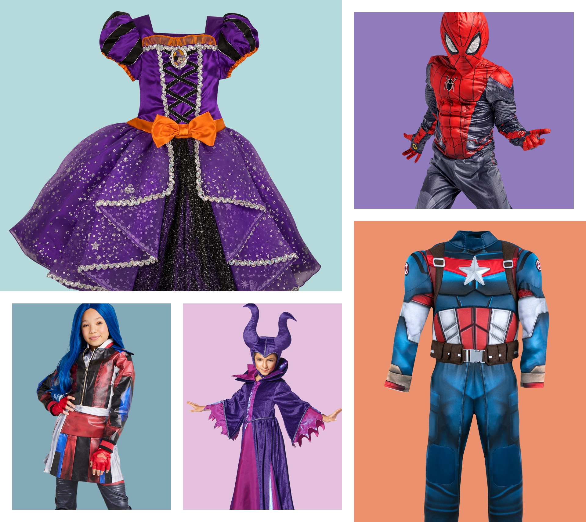 A selection of Halloween products available for adults at shopDisney including an Incredibles 2 suit for men and Mickey gloves