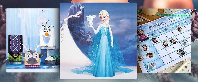 ¡Haz un muñeco de nieve con Disney Moments!