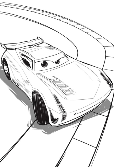 DMM - Cars - Jackson Storm Coloring Page