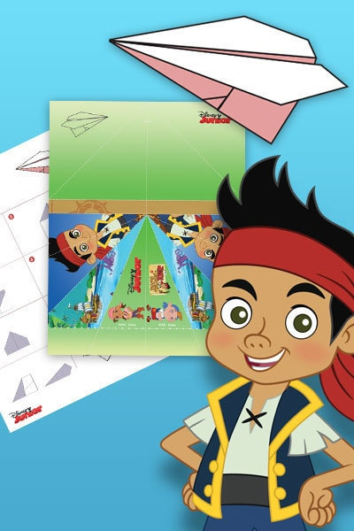 Avion en papier Jake et les pirates du pays imaginaire