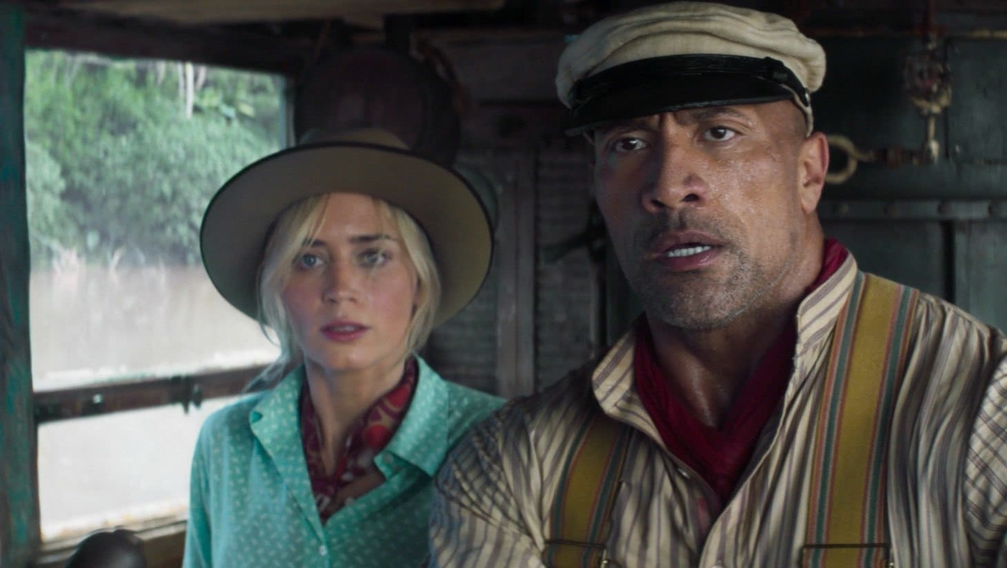 Dwayne Johnson e Emily Blunt interpretano i protagonisti di Jungle Cruise