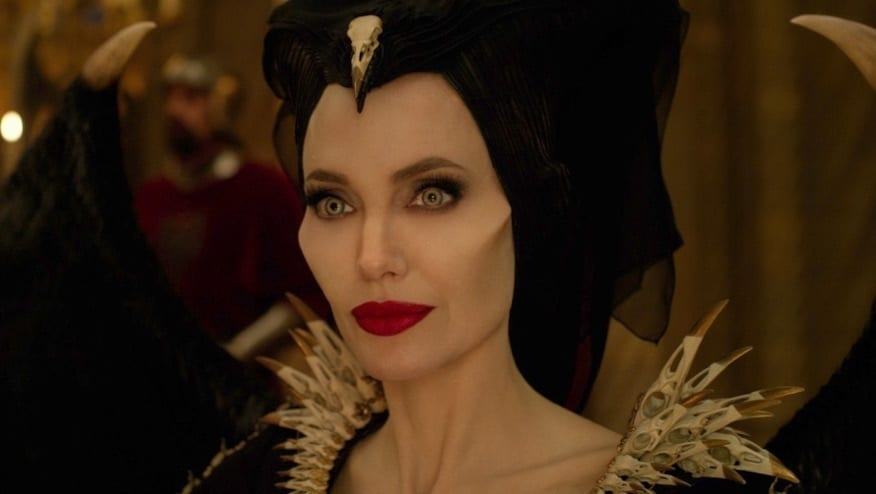 Angelina Jolie in costume as Maleficent