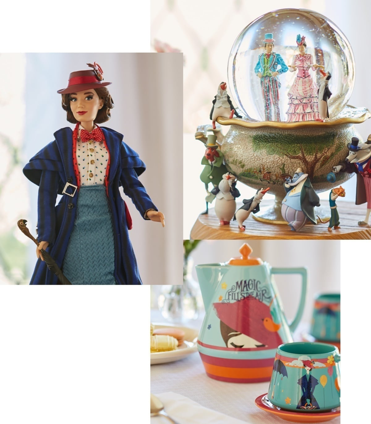 shopDisney | Mary Poppins Doll, Snowglobe & Tea Set