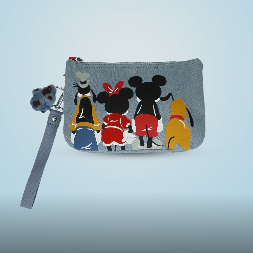 Mickey and Friends Creativity Pouch stylised character artwork and a removable wristlet strap