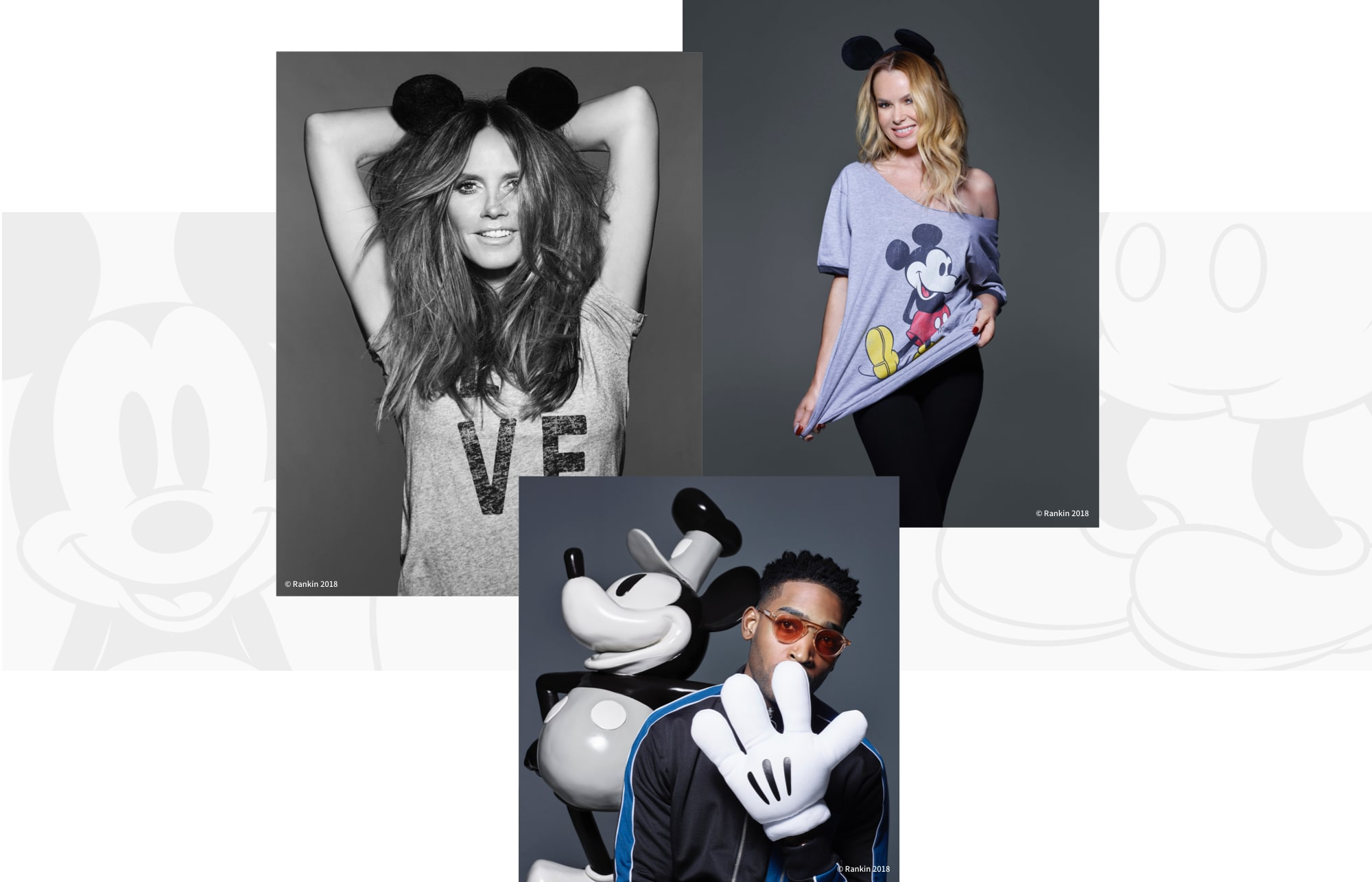 Heidi Klum, Amanda Holden and Tinie Tempah celebrate Mickey Mouse