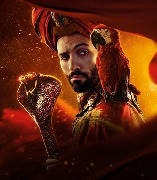 Marwan Kenzari como Jafar en la película Aladdín de Disney