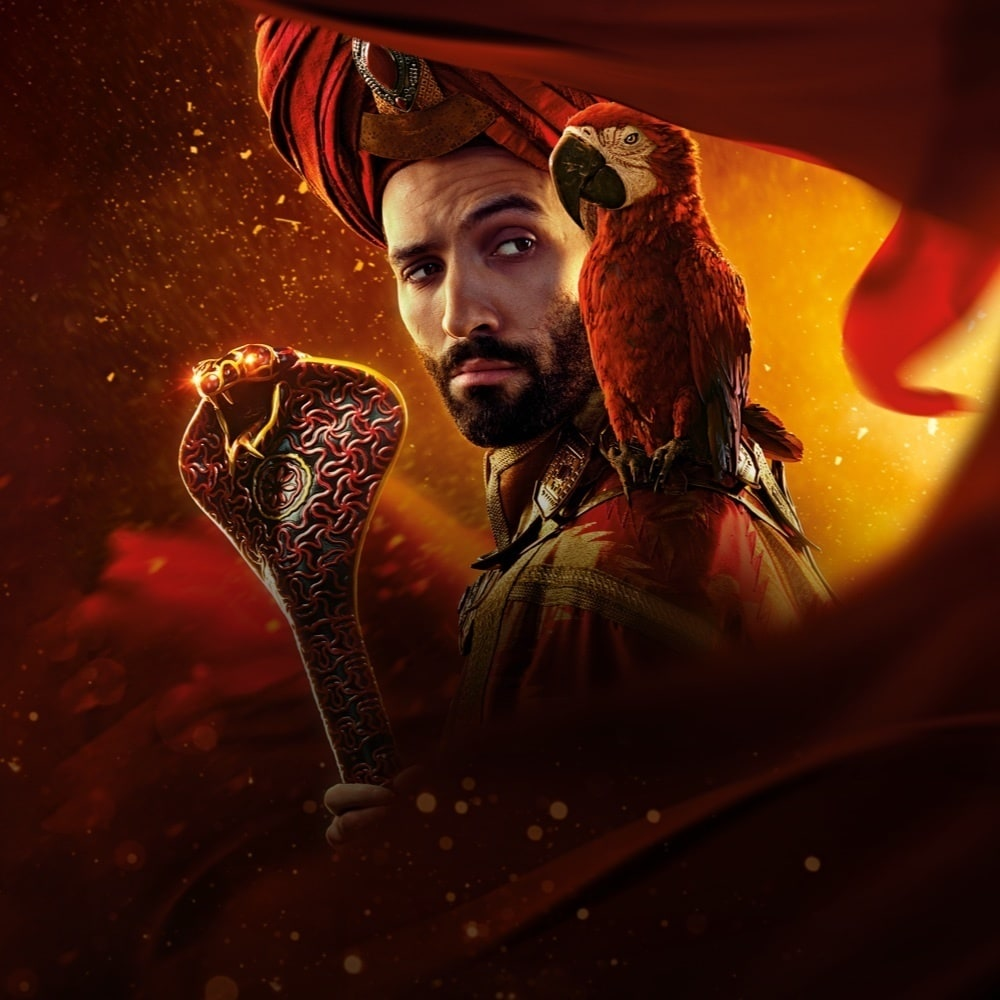 Marwan Kenzari in costume as Jafar