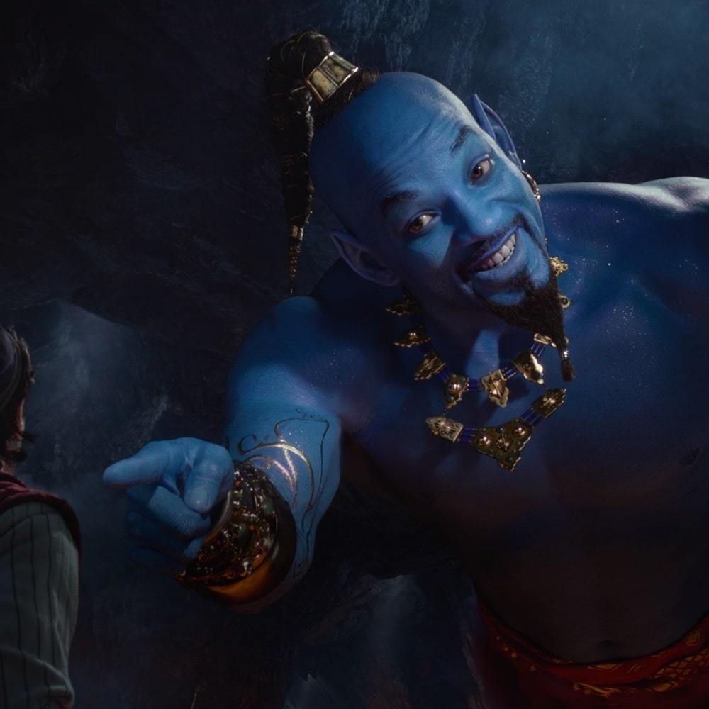 Will Smith as the Genie from the Aladdin 2019 movie