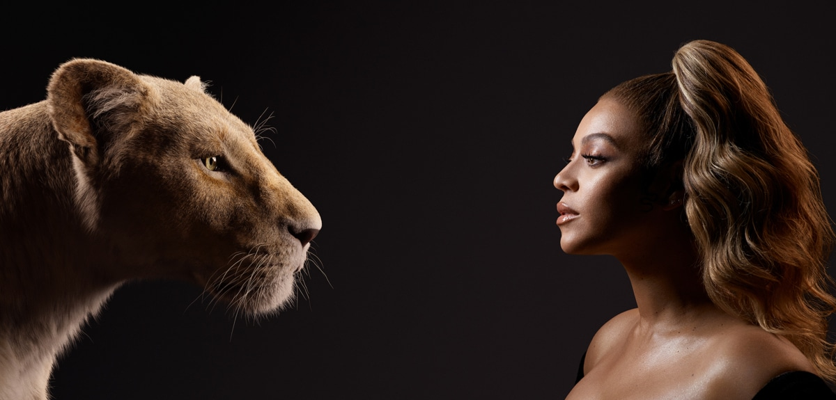 Beyonce Knowles-Carter looking at Nala's face