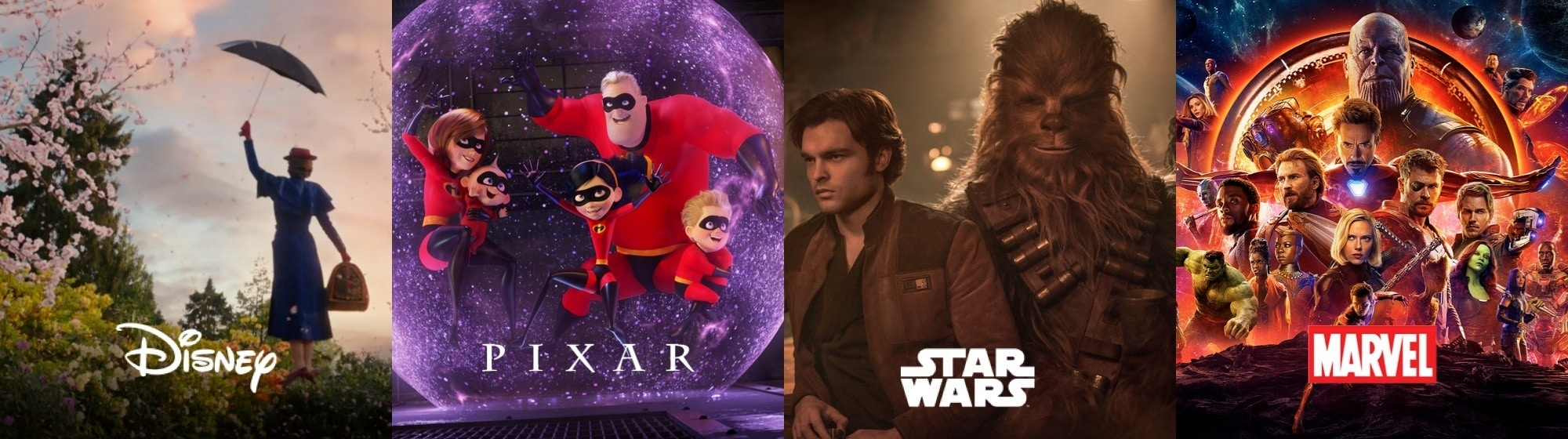Disney | Pixar | Star Wars | Marvel