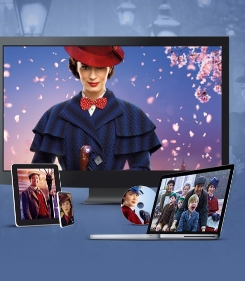 Scene del film Disney Il ritorno di Mary Poppins in TV, PC, su disco, Tablet e telefonino
