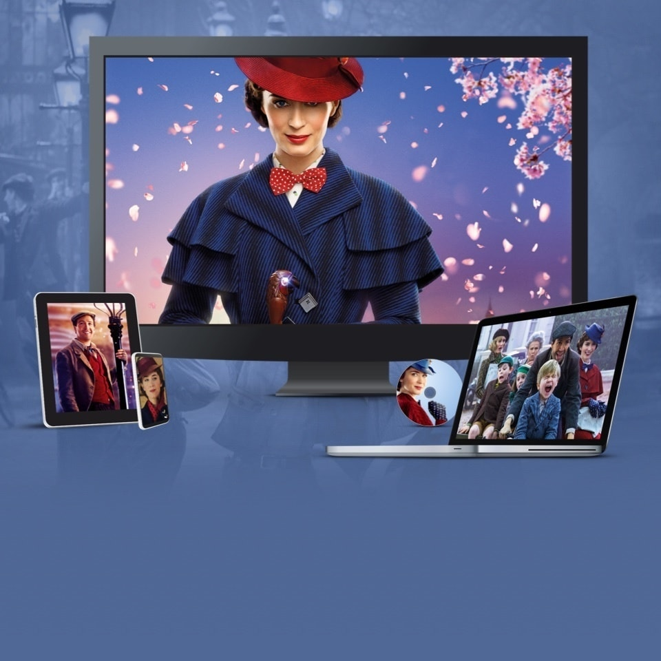 "Imagini de la ""Mary Poppins Revine"" afișate pe TV, laptop, tabletă și mobil"
