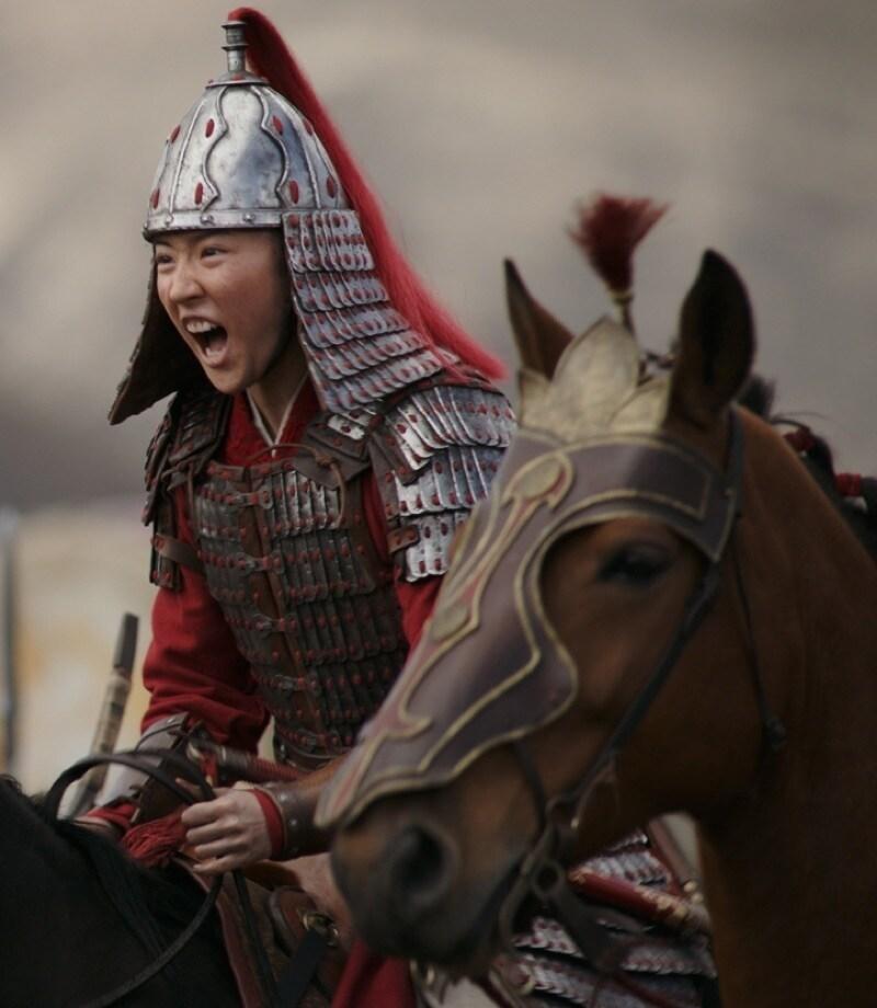 Mulan sur son cheval
