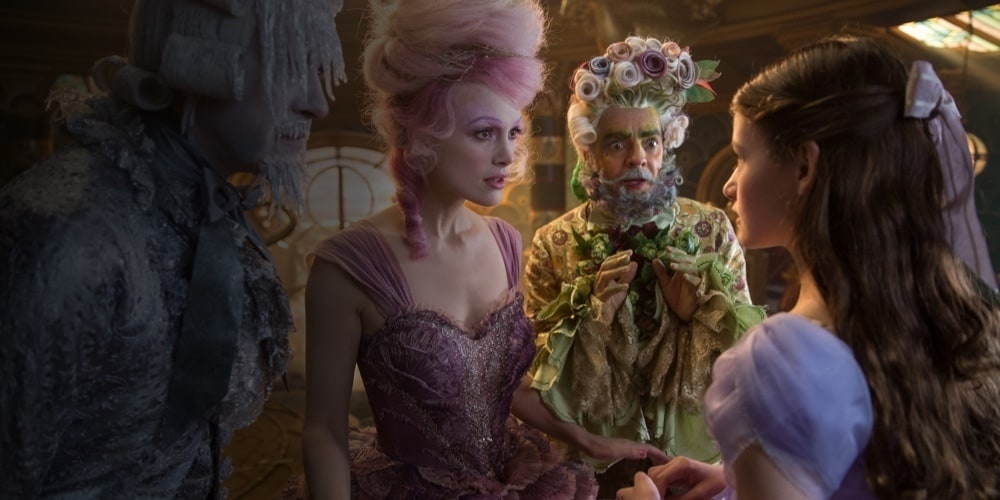 The Sugar Plum Fairy, Hawthorne and Shiver talking to Clara