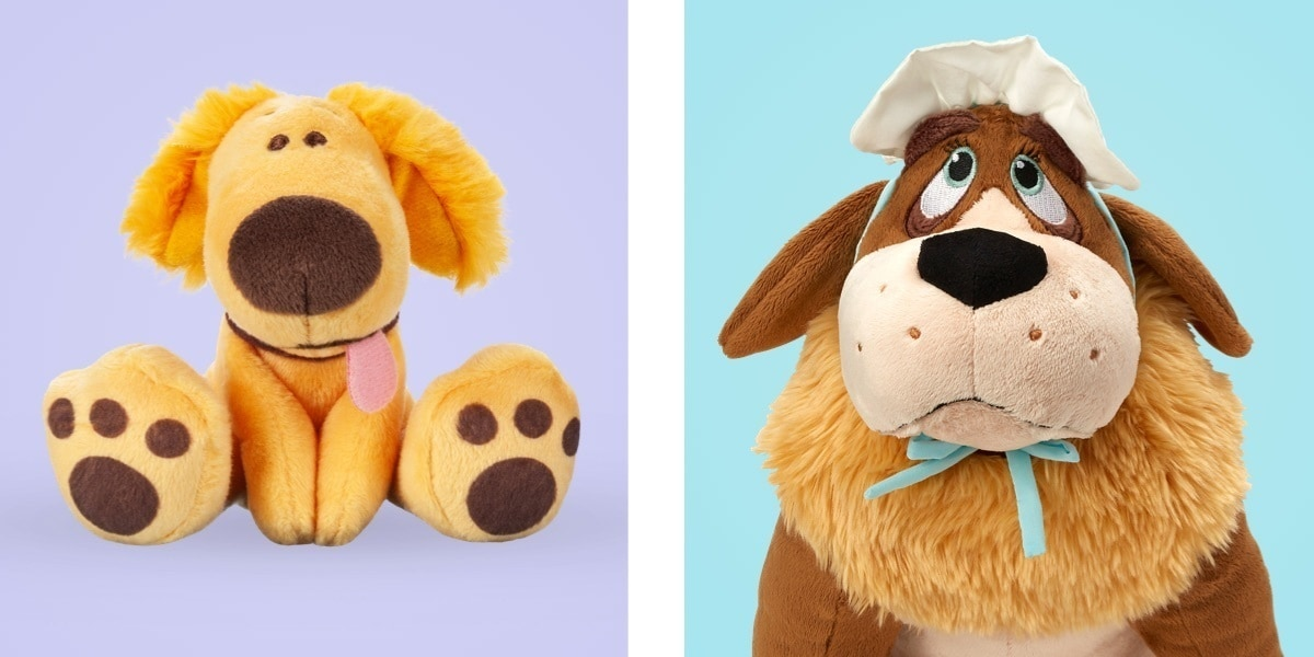 Soft toys inspired by your favourite Disney dogs like Nana, Percy and Max