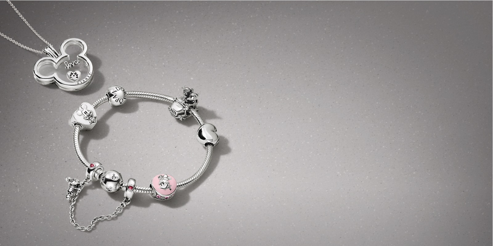 Disney PANDORA l Mickey & Minnie Sweethearts