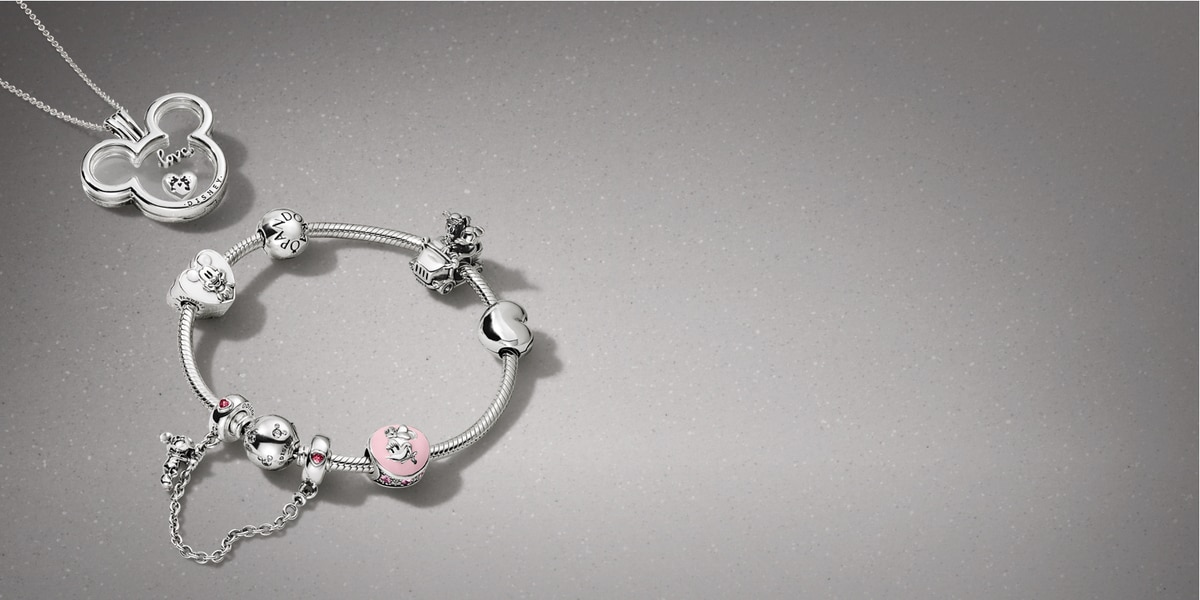 Disney Pandora jewellery | Mickey Mouse necklace, Minnie Mouse bracelet with charms