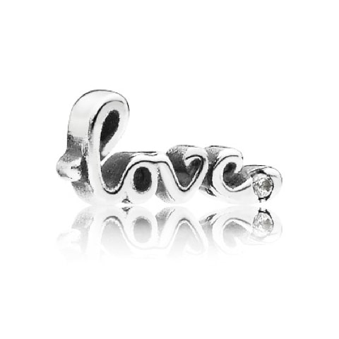 Love Script Petite Locket Charm
