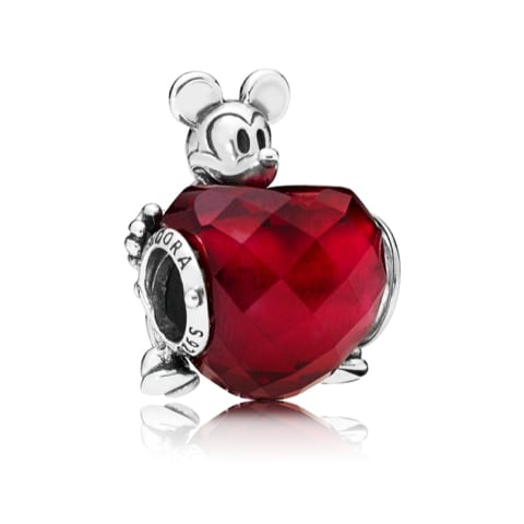 Disney, Mickey Love Heart Charm