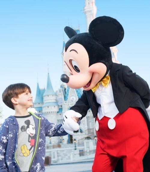 Walt Disney World Resort Mickey enfant garcon chateau kid