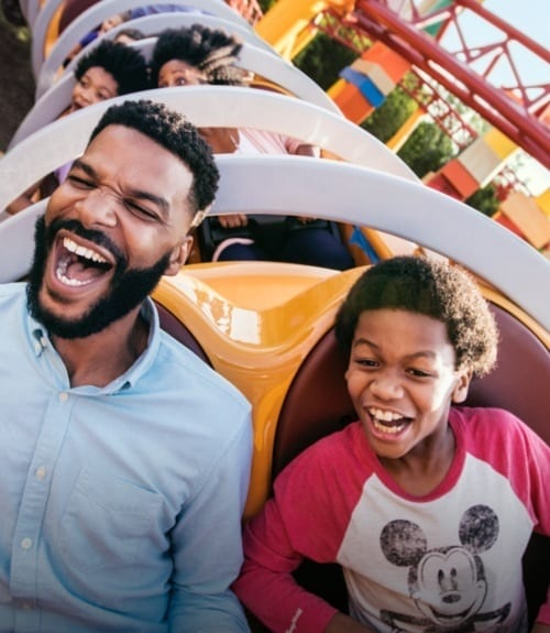 Guests riding the Dash and Dodge ride at Walt Disney World