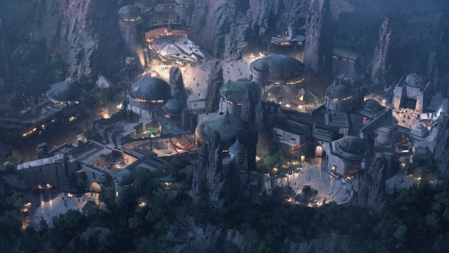 Areal artistic rendering of Galaxy's Edge