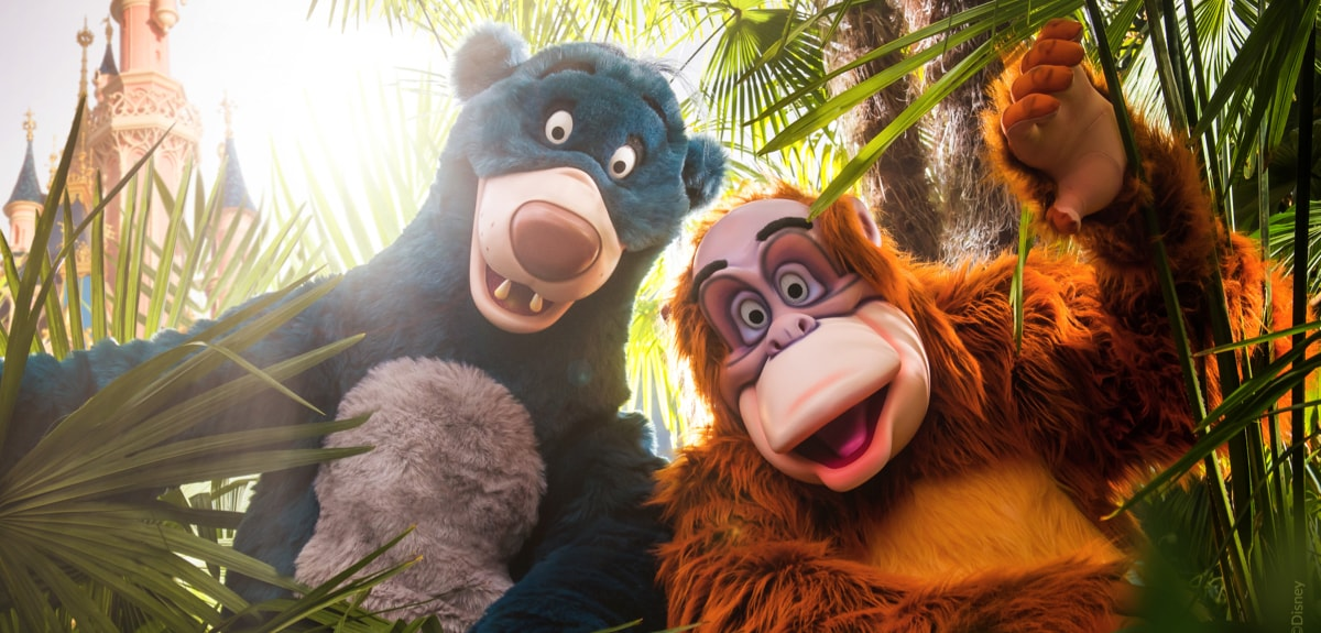 Baloo and King Louie at Disneyland Paris