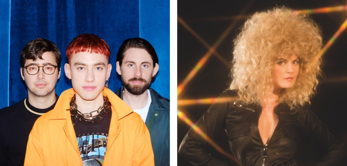 An image of the band Years and Years and an artist called Corine