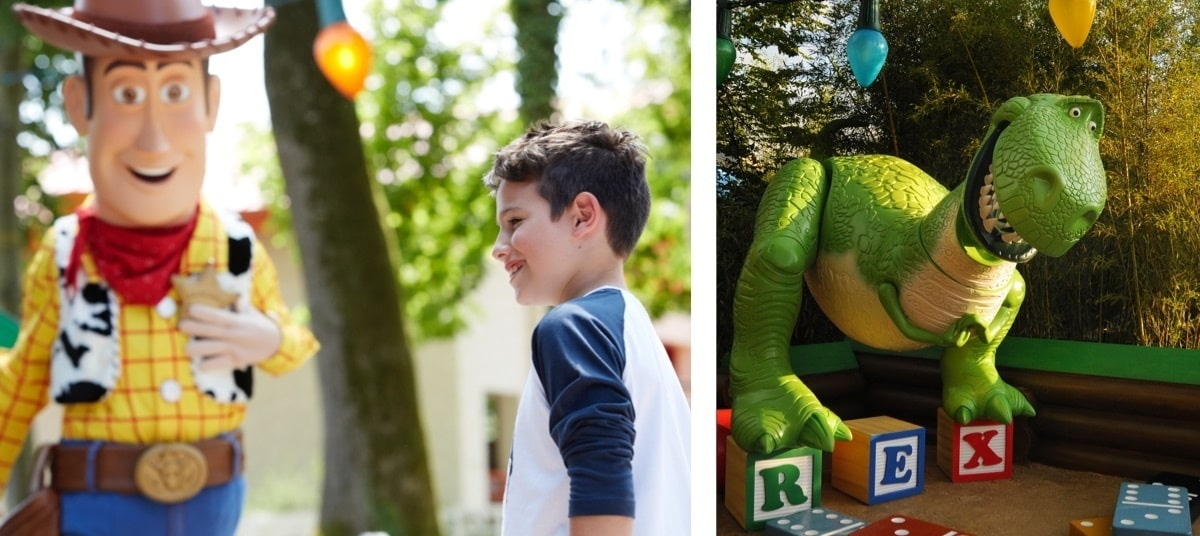 Woody and Rex at Disneyland Paris