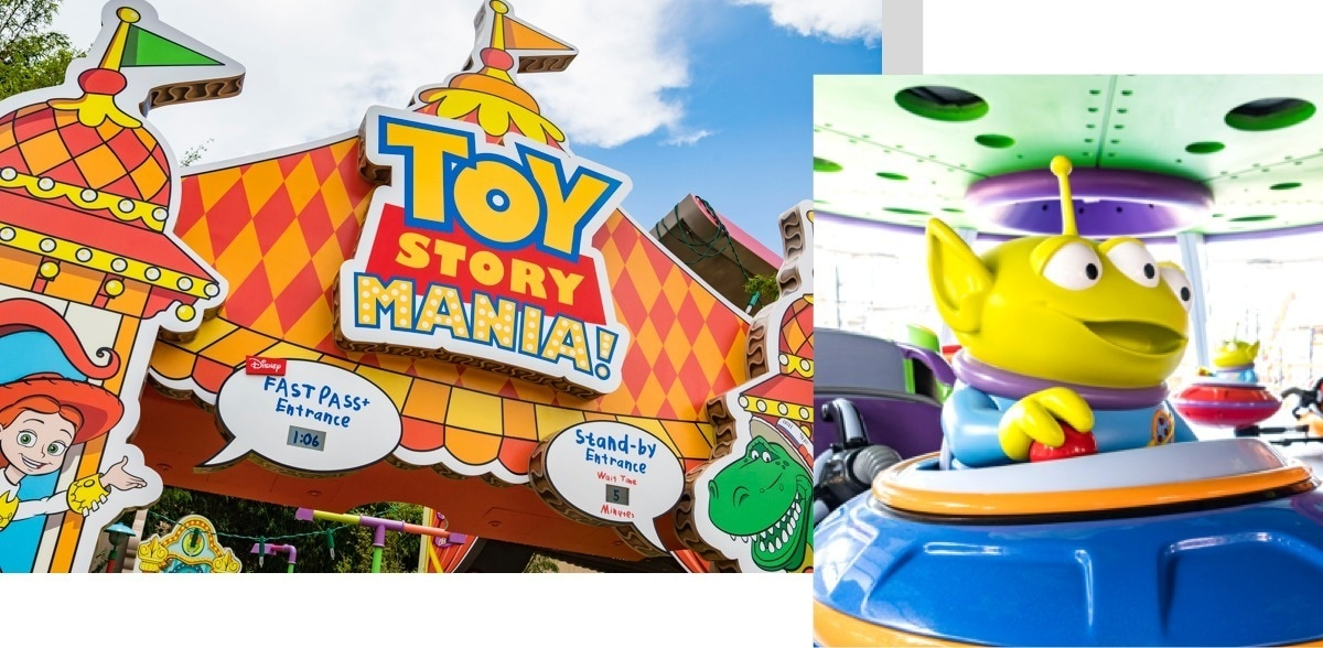 Corsa di Toy Story Mania e Alien Swirling Saucers