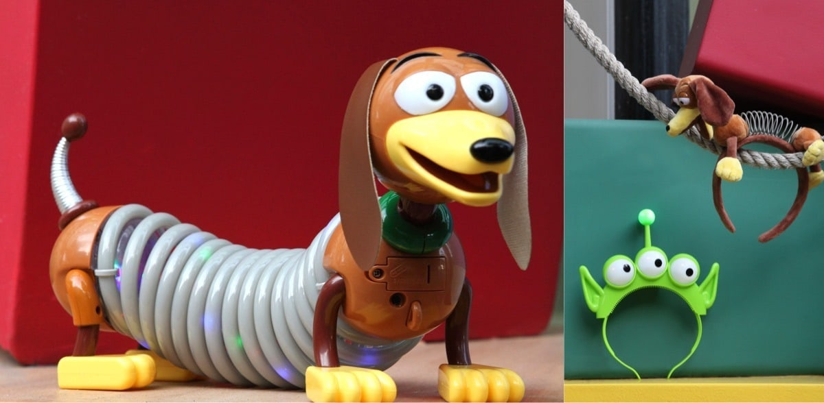 Toy Story Souvenirs, Aliens headbands and light-up Slinky Dog