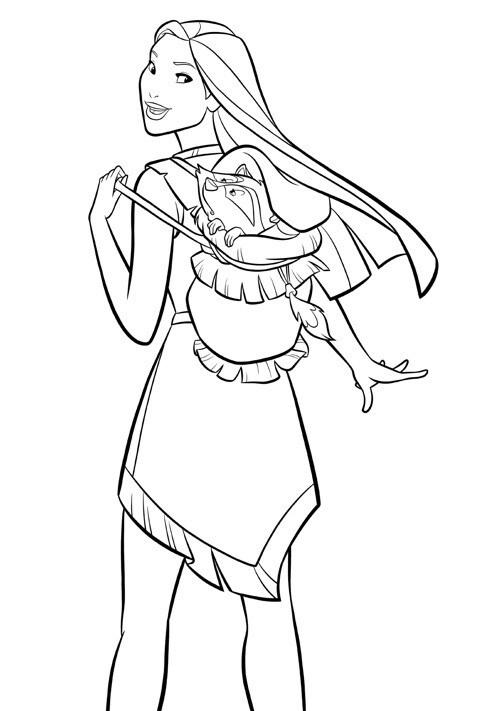 Disney Princess - Pocahontas Colouring Sheet