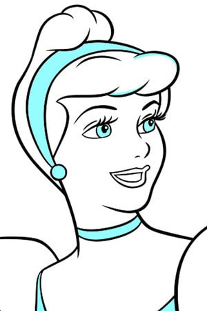Cinderella Ball Gown Colouring Page