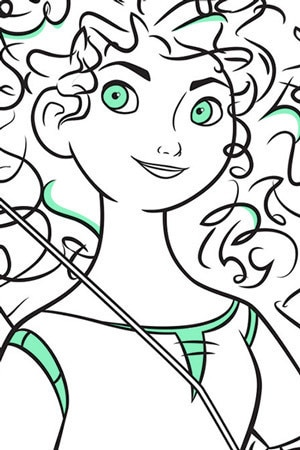 Coloriage Merida