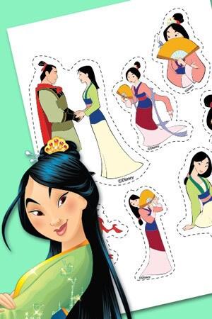 Autocollants de Mulan