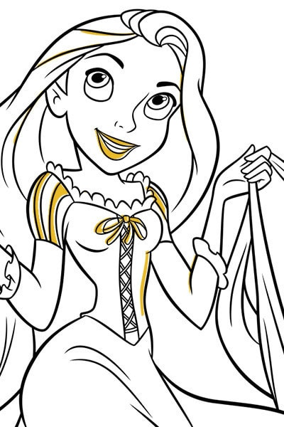 Rapunzel Colouring Page 4