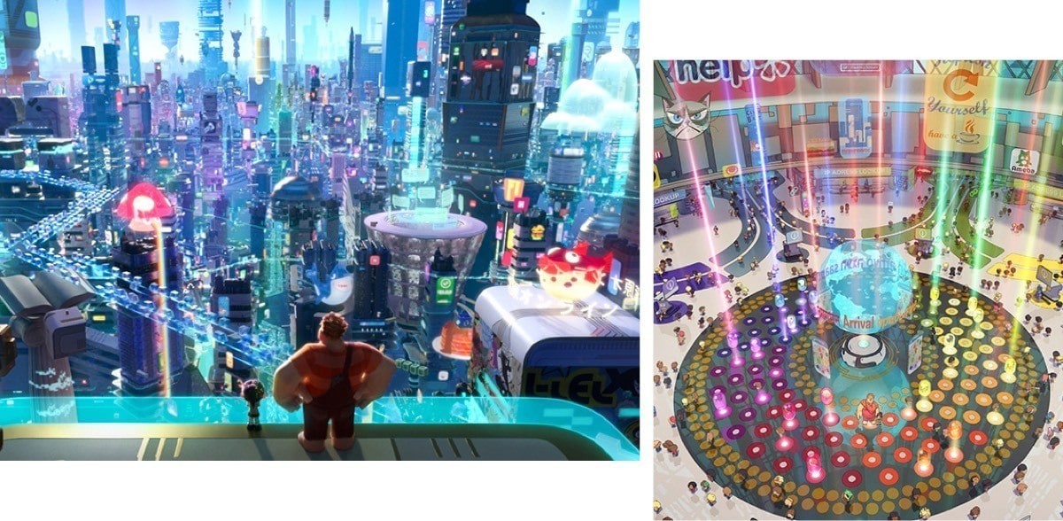 Ralph explores the world of the internet in Ralph Breaks the Internet